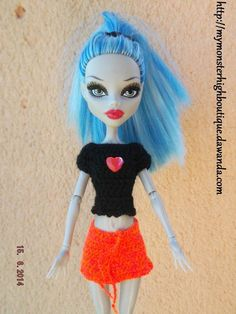 Handmade clothes ropa for Monster High dolls clothing: S376 (doll not included)