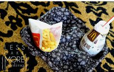Fast food holder (or maybe even a special day the kids can eat in the living room). Great idea for recycling too.