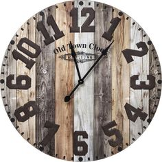 Horloge Murale Old Town Kare Design - Taille : Taille Unique - Kare Design, Bordeaux, London Clock, Pressed Metal, How To Make Wall Clock, Metal Clock, Weathered Wood, Stone Art, Wood Colors