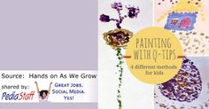 4 Easy Q-Tip Painting Techniques to Take It up a Notch - pinned by @PediaStaff – Please Visit ht.ly/63sNtfor all our pediatric therapy pins