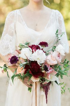 fall marsala bouquet | Morning Light by Michelle Landreau