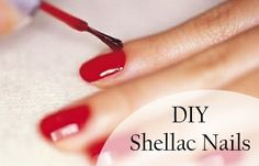 DIY Shellac Nails  apply a single coat of Sally Hansen's Powerful Acrylic Gel and let it dry completely. Then apply a coat of your favorite ...
