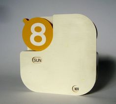 Mid Century Modern Perpetual Calendar by ILiveModern on Etsy.