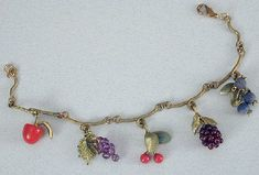 Silver Seasons - Michael Michaud - Fruit Charm Bracelet
