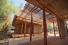 Thon Mun Community Center by Project Little Dream « Inhabitat – Green Design, Innovation, Architecture, Green Building Timber Architecture, School Architecture, Sustainable Architecture, Architecture Details, Pavilion Architecture, Residential Architecture, Contemporary Architecture, Landscape Architecture, Natural Building