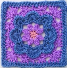 "Ravelry: Charming - 6"" Square: free #crochet pattern by Melinda Miller"