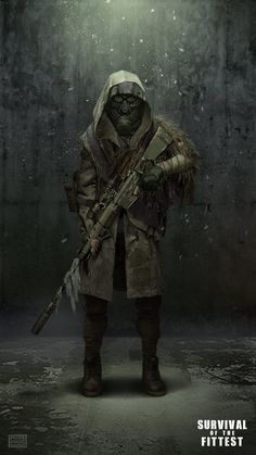 ArtStation - SURVIVAL OF THE FITTEST - Sniper unit, Asim Steckel. #postapocalyptic #Art #gosstudio .★ We recommend Gift Shop: http://www.zazzle.com/vintagestylestudio ★