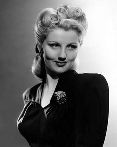Love the hairdo! Dolores Moran 1943 .. she starred in Yankee Doodle Dandy More