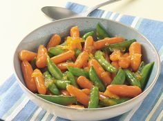 Carrots and fresh sugar snap peas glazed in a sweet orange marmalade—prepared in only 15 minutes!