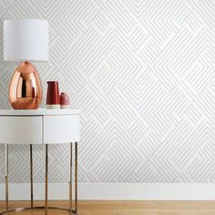 """Wrought Studio Leanne Perplexing 16.5' L x 20.5"""" W Peel and Stick Wallpaper Roll & Reviews 