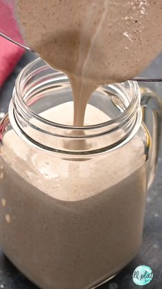 Filling and healthy Oatmeal Smoothie with peanut butter, banana, and cinnamon. With benefits like fiber, protein, health Protein Smoothies, Smoothie Proteine, Protein Snacks, Weight Loss Smoothies, Weight Loss Meals, Healthy Oatmeal Smoothies, Smoothie With Oatmeal, Smoothies For Dinner, Healthy Peanut Butter Smoothie