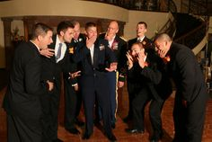 All the guys being silly