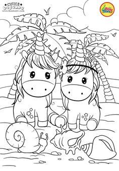 Cuties Coloring Pages for Kids - Free Preschool Printables - Slatkice Bojanke - Cute Animal Coloring Books by BonTon TV Free Kids Coloring Pages, Free Printable Coloring Sheets, Preschool Coloring Pages, Unicorn Coloring Pages, Animal Coloring Pages, Coloring Book Pages, Coloring Pages For Kids, Free Coloring, Drawing For Kids