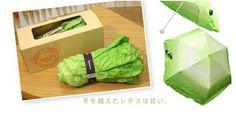 Vegetabrella -- an umbrella that looks like lettuce.