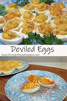 Easy Deviled Egg | Through the Cooking Glass Egg Recipes, Other Recipes, Holiday Recipes, Holiday Foods, Perfect Hard Boiled Eggs, Deviled Eggs Recipe, Just Eat It, Game Day Food