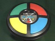 Simon: This was invented by Howard Morrison and debuted in 1976 . it was the first toy with a computer chip in it. Perfect for building memory skills. 90s Childhood, Childhood Memories, Teddy Bear Birthday, Computer Chip, 40th Birthday Cakes, Singing Happy Birthday, Remember The Time, The Best Is Yet To Come, Milestone Birthdays