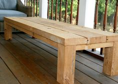 Outdoor barn wood coffee table