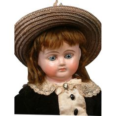 "Spectacular 19.5"" Antique Wax over Papier Mache Doll w/FABULOUS Original Condition Body"