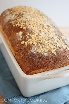 Whole Wheat Honey Oatmeal Bread – Soft and fluffy homemade whole wheat bread with a touch of honey - perfect for hearty sandwiches and buttery toast! | thecomfortofcooking.com