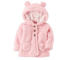 Carter's Baby Girls' Hooded Sherpa Jacket: This cozy Sherpa jacket from Carter's is both soft and fuzzy for added warmth. Carters Baby Clothes, Carters Baby Girl, Baby Girls, Toddler Outfits, Girl Outfits, Pregnancy Fashion Winter, Maternity Fashion, Baby Girl Jackets, Baby Snowsuit