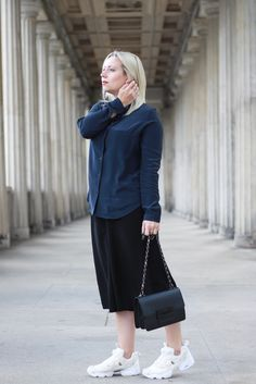 Minimalistischer Look // Pyjama Bluse, Culotte & Instapump Fury Gallery // Outfit Blogger