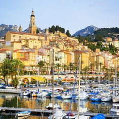 Menton, France. The colors are so beautiful.