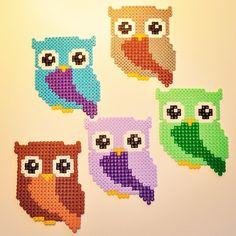 Owls perler beads by parlplattan_webshop