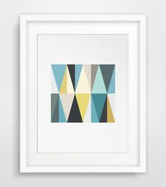 Hey, I found this really awesome Etsy listing at https://www.etsy.com/listing/193341158/teal-and-mustard-geometric-triangle-wall