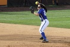 Though pitches in softball and baseball are similar, softball pitchers employ different techniques to throw their pitches. Because softballs are pitched underhand rather than overhand, pitchers grip and release the softball differently. Softball Crafts, Softball Bows, Softball Coach, Softball Shirts, Girls Softball, Softball Cheers, Softball Stuff, Cheerleading Gifts, Girls Basketball