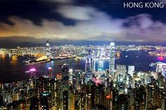 / Hong Kong at Night by Kevin Choi Disneyland Tours, In The Beginning God, Photo Heart, Night City, Travel Tours, Heaven On Earth, San Francisco Skyline, Vancouver, Hong Kong