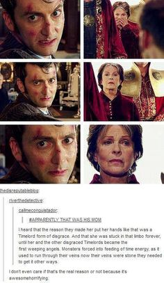 The Time Lords are the Weeping Angels theory?? Heart broken!!