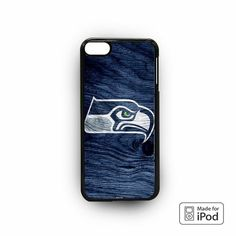 Seattle Seahawk Wood Logo for iPod 6 Cases