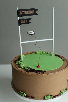 Rugby cake by Yolk www.cakesbyyolk.com