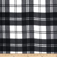 Winterfleece Double Take Plaid Ivory from @fabricdotcom  From Windham Fabrics, this double-sided, anti-pill fleece fabric is warm and cozy and has ultra soft hand. It is perfect for throws, blankets, jackets, hats, mittens, scarves, slippers, pillows, vests, pullovers and much more!  Remember to allow extra yardage for pattern matching.