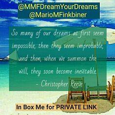 #MarioMFinkbiner #mariofinkbiner #MMFDreamYourDreams #90DayHealthandWealthCreation #GetHealthyandWealthywithMario