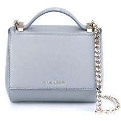 Givenchy Leather Pandora Box Handbag (23.254.745 IDR) ❤ liked on Polyvore featuring bags, handbags, blue leather purse, givenchy handbags, tote purse, genuine leather handbags and genuine leather purse