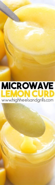 This easy Microwave Lemon Curd literally takes just minutes to make! It tastes awesome in your favorite lemon recipe or just plain on toast. Try this with xylitol Lemon Desserts, Lemon Recipes, Just Desserts, Sweet Recipes, Delicious Desserts, Dessert Recipes, Yummy Food, Microwave Recipes, Cooking Recipes