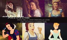 Snow, Belle, and Cinderella look like the Disney character