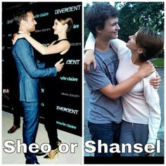 I prefer Sheo, but what about you?  Theo James and Shailene Woodley or Ansel Elgort and Shailene Woodley? Divergent and The Fault In Our Stars.