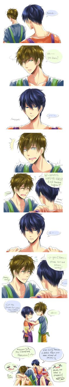 Makoto, have you ever made Haru cry? ... From Aku & Khetis ... Free! - Iwatobi Swim Club, haruka nanase, haru nanase, haru, nanase, haruka, makoto tachibana, makoto, tachibana, free!, iwatobi
