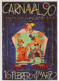 cartel carnaval 90 santa cruz de tenerife