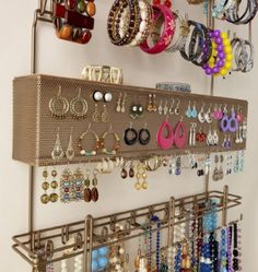 acolline's save of Overdoor Wall Longstem Jewelry Organizer Valet Bronze - Holds over 300 pieces. Unique patented product - Rated Best! on Wanelo