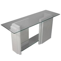 Architectural Stone Console Table, 1980s