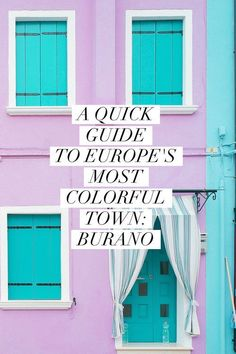 What to see, do, and eat in Burano, Italy: #italianholidaystravel