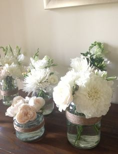 Floral centrepieces for a Diner en Blanc inspired Baby Shower | Pretty Up!