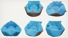 Marie Bean Bag Chair by Antionette Bader | Cool Material