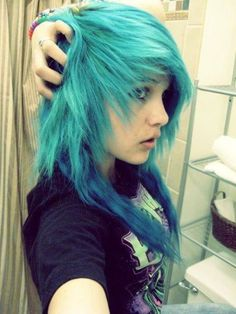ambrehhh with blue hair