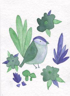 Jelena Matriszenka #watercolor #watercolorillustration #illustration #watercolorart #art #akwarele #creature #cute #bird #watercolorbird #spring