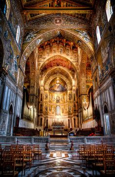 Mosaic by Christof Schmeisser Architecture Artists, Cathedral Architecture, Sacred Architecture, Church Pictures, Cathedral Church, Old Churches, Catholic Art, Place Of Worship, Beautiful Buildings