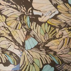 Multicolored Butterfly Inspired Design Silk  #hautecouture #silk #printed #fabric #fabricstore #coralgables #shopping #onlineshopping #fabrics #women #womensfashion #fashion #fashionfabrics